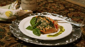 Basil-Crusted Copper River King Salmon
